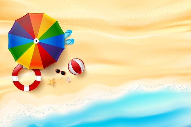 砂の抽象的な背景の上面図