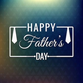 Abstract background of triangles with father's day badge