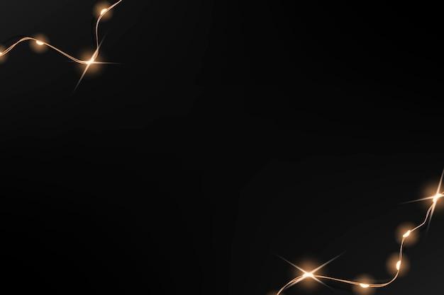 Vettore di sfondo astratto in nero con bordo di luci cablate