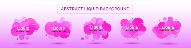 Abstract background violet colletion liquid memphis modern template
