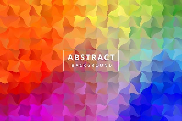 Abstract background wallpaper. colorful polygon hexagon premium vector