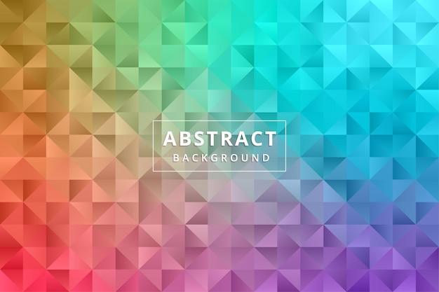 抽象的な背景の壁紙。カラフルなポリゴン六角形プレミアムベクトル