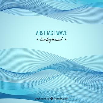 Sfondo astratto di onde e linee