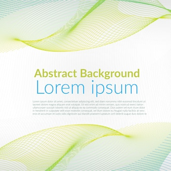 Abstract background wavy line concept