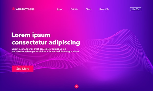 Abstract background website landing page.