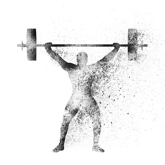 Abstract background of weight lifting