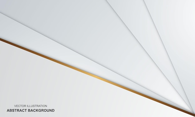 抽象的な背景白と金色の豪華なモダンなデザイン