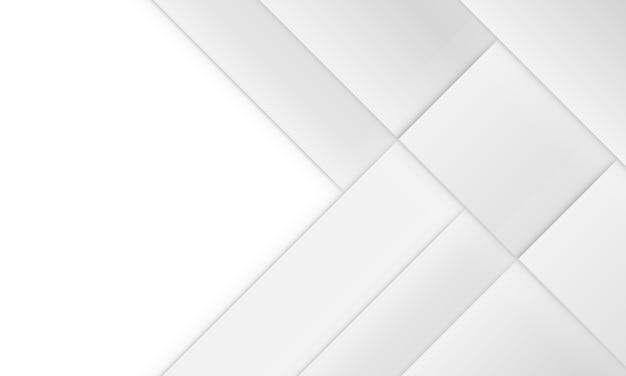 影付きの抽象的な背景の白と灰色の幾何学的な正方形。テンプレートのデザイン。