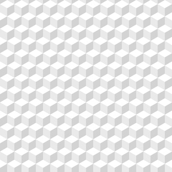 Abstract background of white cubes. white seamless pattern