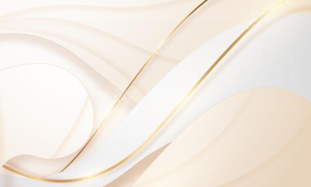 Красота плаката абстрактного фона белого золота с динамичной роскошью vip.