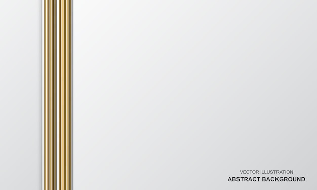 Abstract background white and golden luxury modern design