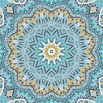 抽象的な背景冬ラウンドシームレス幾何学模様