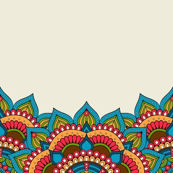 Abstract background with 3 mandalas