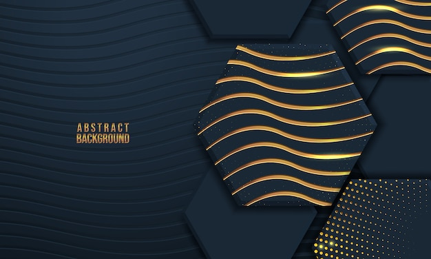 Abstract background with 3d shape and wave texture