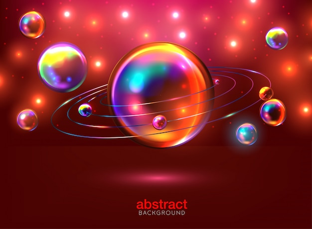 Abstract background with 3d spheres cluster