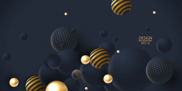 Abstract background with 3d spheres cluster.