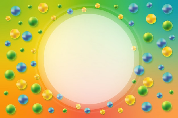 Abstract background with 3d spheres. decoration element