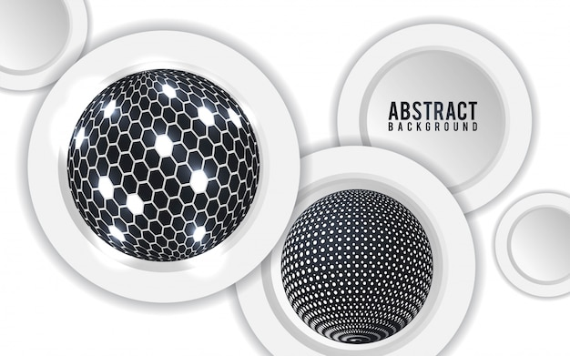 Abstract background with 3d spheres. - vector