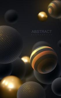 3d球と抽象的な背景