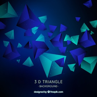 3dトライアングルを持つ抽象的な背景