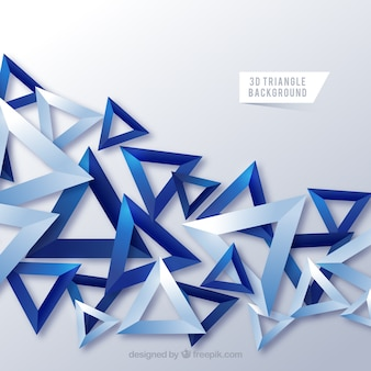Abstract background with 3d triangles