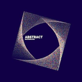 色付きの動的な線と粒子で抽象的な背景