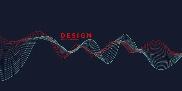 Абстрактный фон с цветными динамическими волнами, линиями и частицами. иллюстрация подходит для