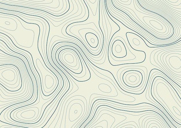 Абстрактный фон с контурной топографией ландшафтного дизайна