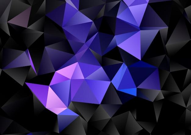 暗い幾何学的な低ポリデザインの抽象的な背景