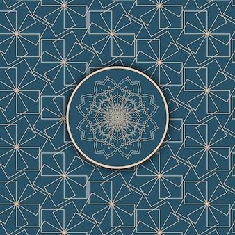 装飾的なパターンデザインと抽象的な背景