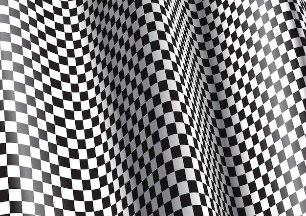 왜곡 된 체크 무늬 패턴으로 추상적 인 배경