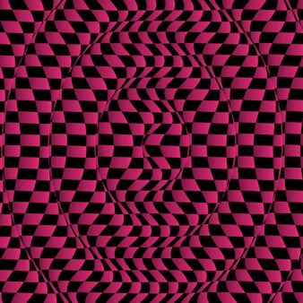 왜곡된 체크 무늬 패턴으로 추상적인 배경