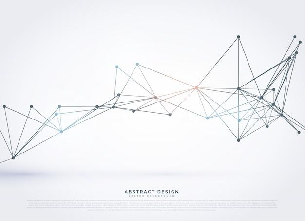 Абстрактных геометрических многоугольной технологии стиль фона