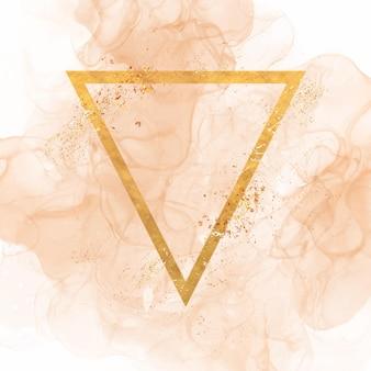 キラキラの形と手描きのアルコールインクのデザインと抽象的な背景