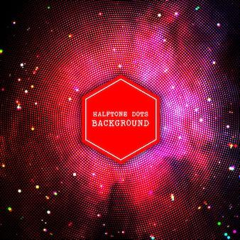 Абстрактный фон с дизайном полутоновых точек