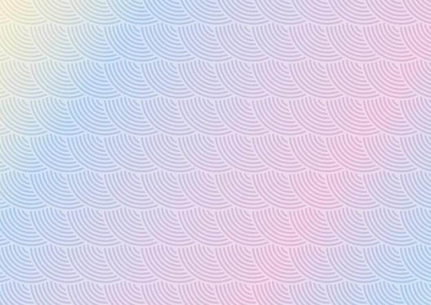 パステルカラーの日本をテーマにしたパターンデザインの抽象的な背景