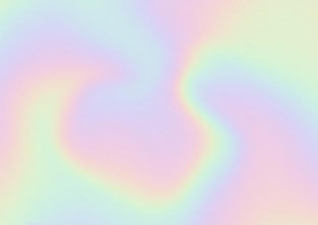 무지개 색깔의 홀로그램 배경으로 추상적인 배경