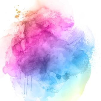 무지개 색 수채화 텍스처와 추상적인 배경