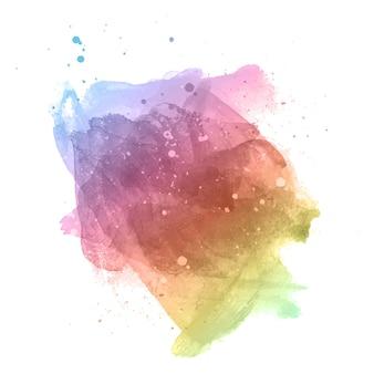 Абстрактный фон с акварельной текстурой цвета радуги