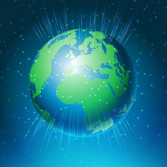 世界の地球儀のデザインと抽象的な背景