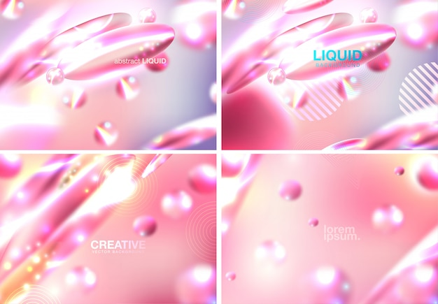 Abstract background with beautiful blurred dynamic liquid fluid