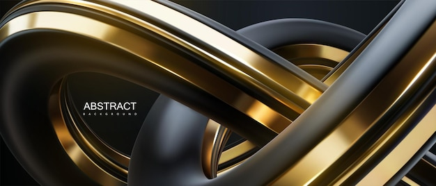 검정과 황금 매듭 모양으로 추상적 인 배경