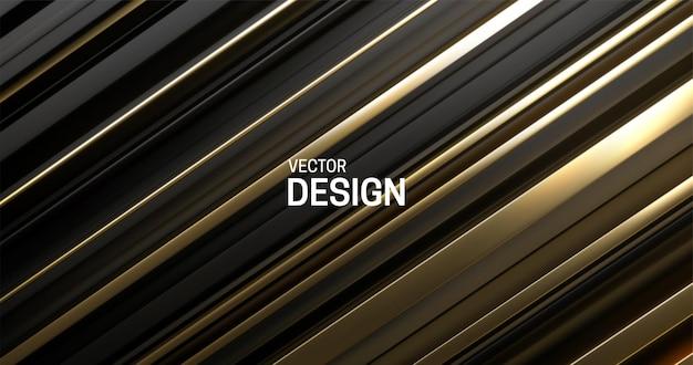 검은 색과 황금색 층 표면으로 추상적 인 배경