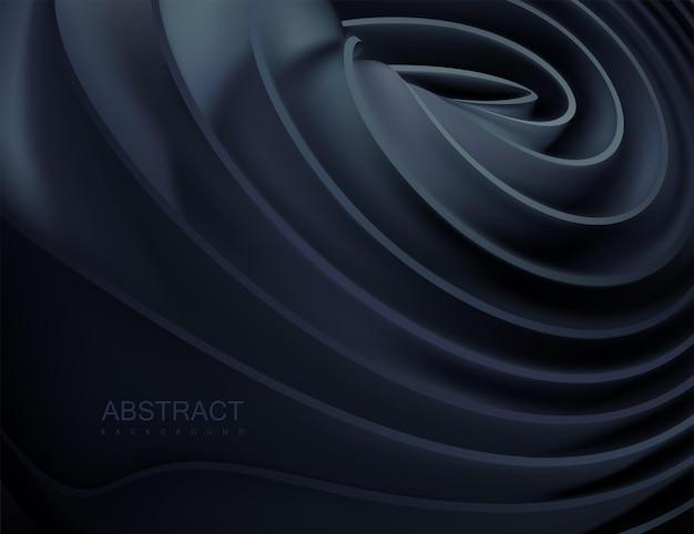Абстрактный фон с черными эластичными лентами