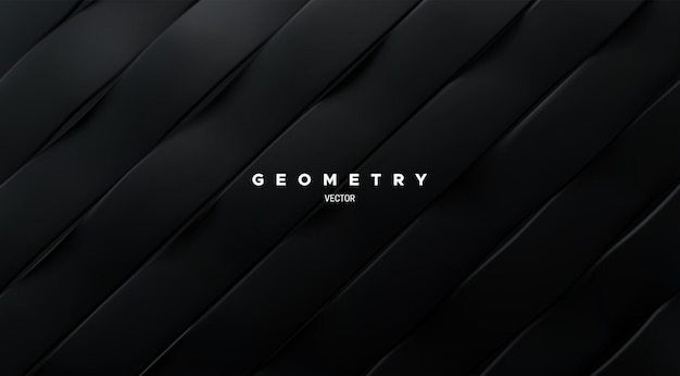 Abstract background with black sliced surface