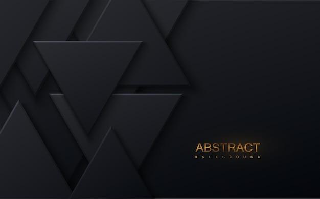 검은 색 삼각형 모양으로 추상적 인 배경