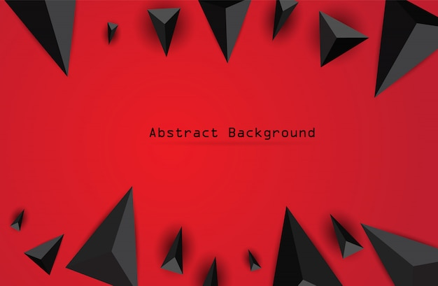 Abstract background with black triangles.