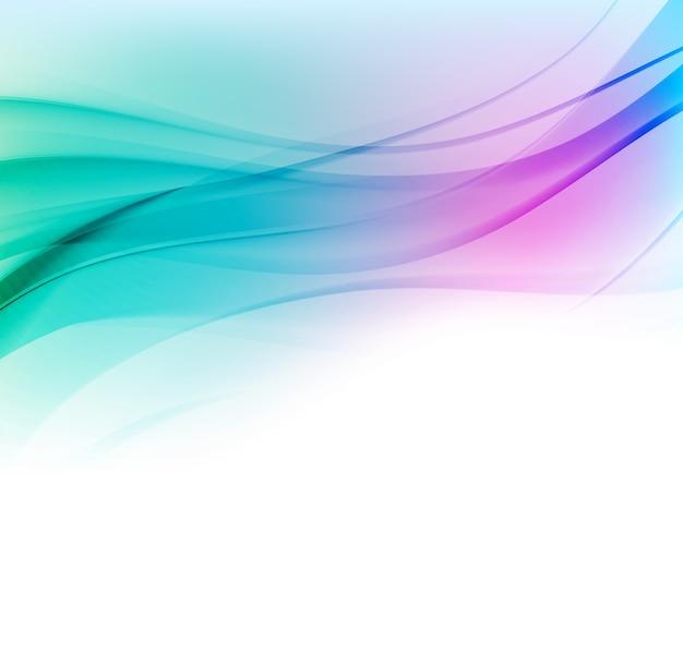 青とピンクの滑らかな色の波と抽象的な背景。青い波線
