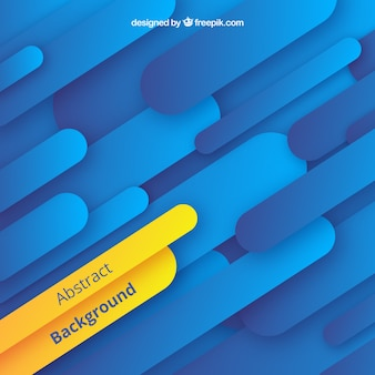 Abstract background with blue and yellow shapes