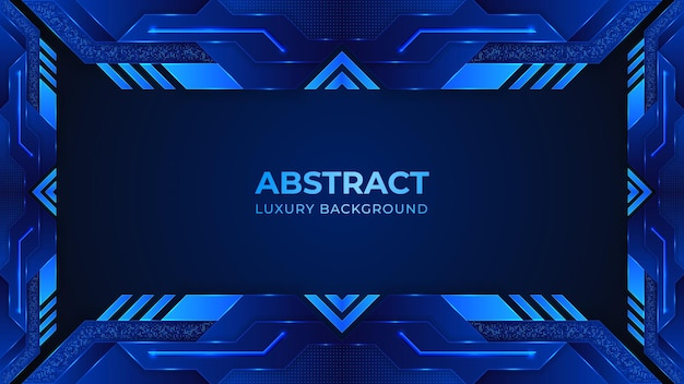 Abstract background with blue and black shapes